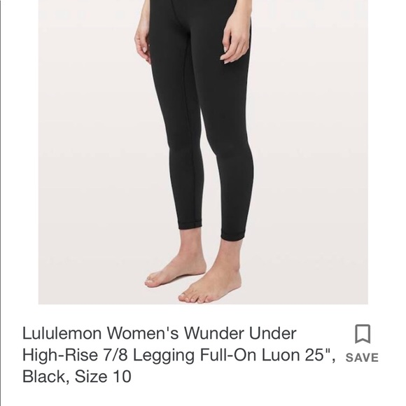 5f4d9827f9 lululemon athletica Pants | Wunder Under Black Size 6 | Poshmark